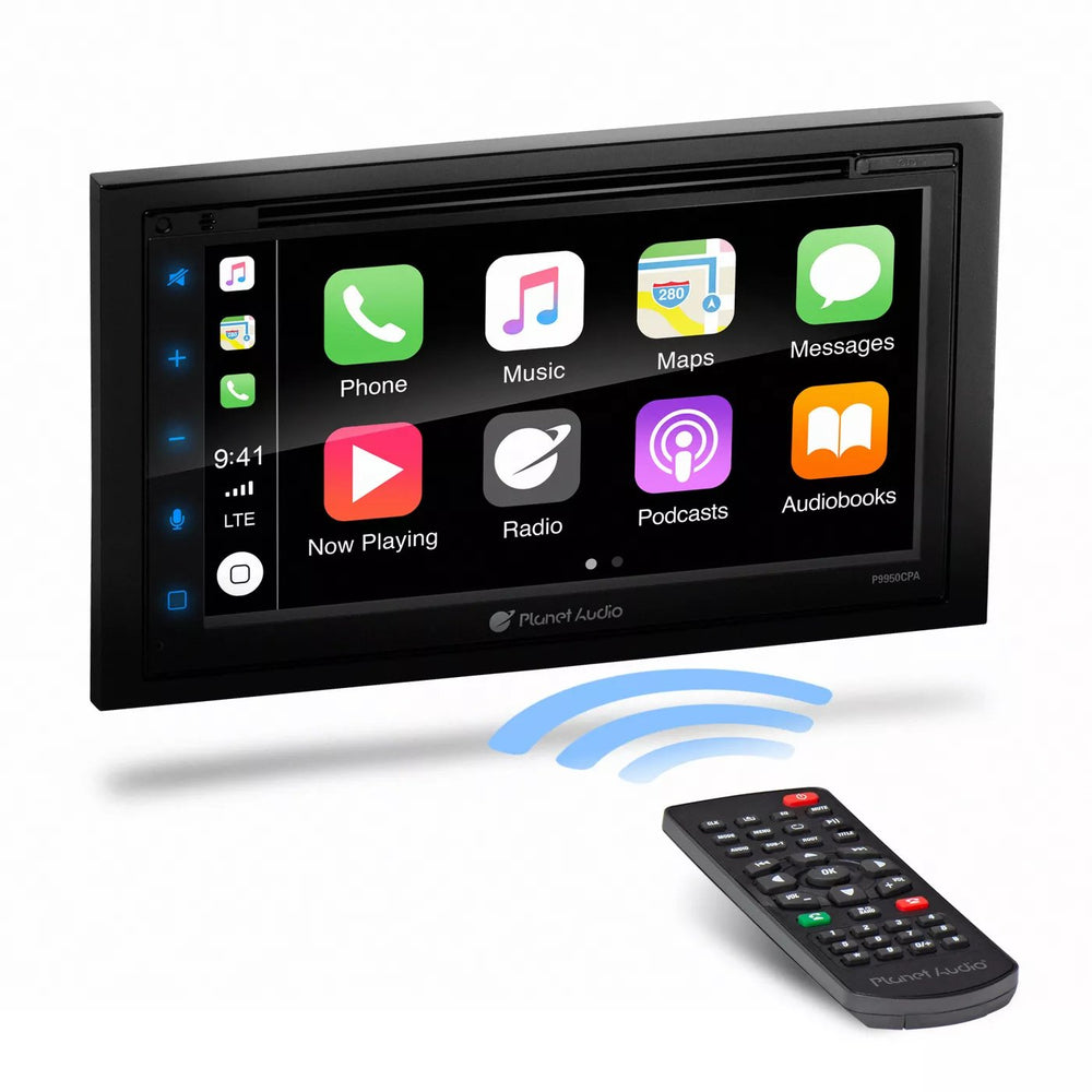 "Planet Audio P9950CPA Double-DIN Android Auto DVD Player 6.75"" Touchscreen"