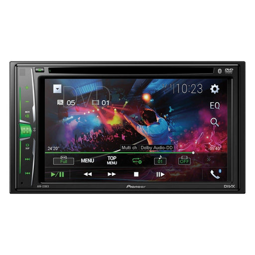 "Pioneer AVH-220EX 2 DIN Multimedia DVD Receiver with 6.2"" WVGA Clear Resistive Display"