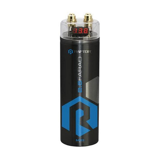 Raptor R4CAP MID SERIES - 2.5 Farad Capacitor - Digital Voltage Monitor Top