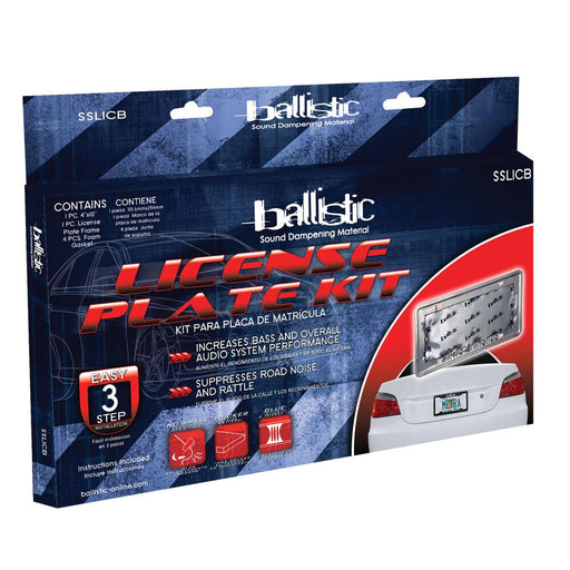 Ballistic SSLICB License Plate Kit with Frame and Foam Gaskets
