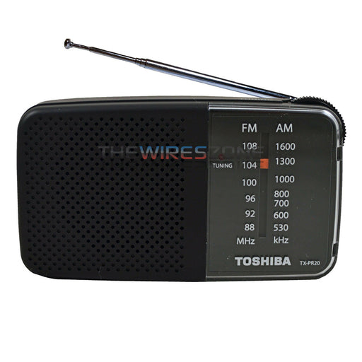 Toshiba TX-PR20 AM FM Pocket Portable Battery Operated Radio Tuning