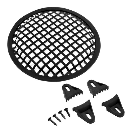 The Wires Zone 6 Inch Durable Steel Mesh Speaker Subwoofer Grill Waffle Style w/ Clips