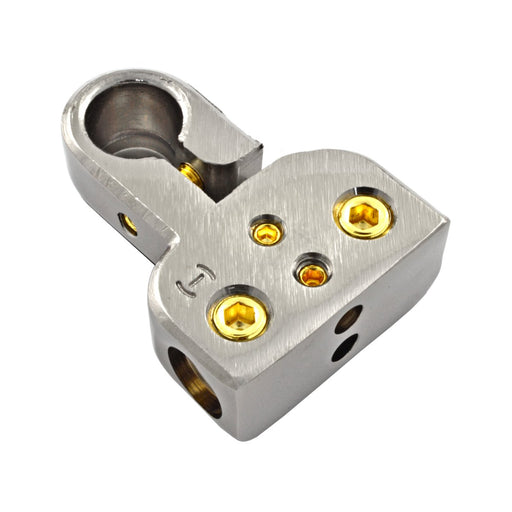 Phoenix Gold ZBX216 SST Top Mount Dual 1/0-4 and 8 Gauge Negative Battery Terminal Clamp