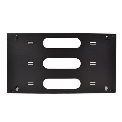 "LOGICO WB6U19 19"" Six Space 6U Steel Wall Mount Hinged Swing Out Patch Panel Bracket 6"" Deep"
