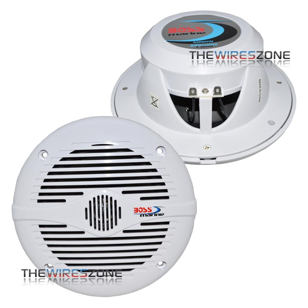 "Boss Audio MR60W 6.5"" 2-Way 200W Marine Boat Coaxial Speaker"