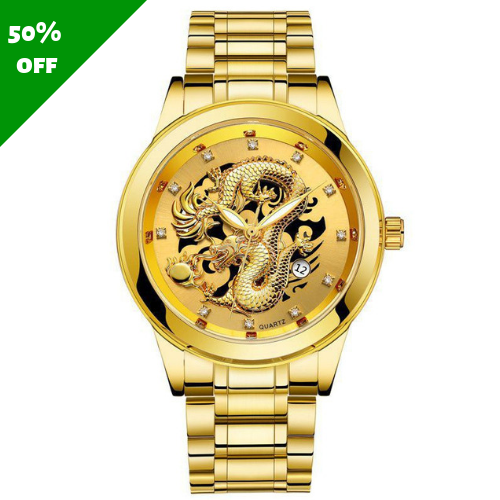 Coocart Online™ Luxury Men's Dragon Watch
