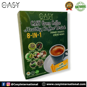Casy International™ - Casy Green Coffee Healthy and Natural Coffee Drink (21g x 10 Sachets) Made of Natural Plant Herbs!