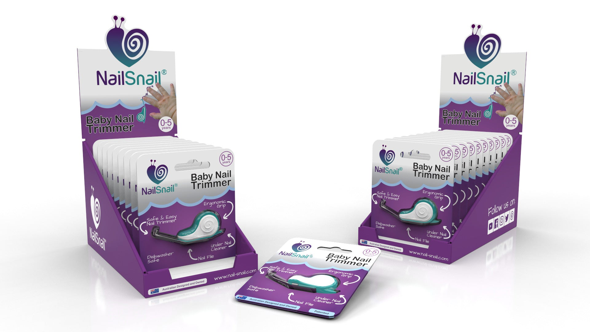 Nail Snail Shelf Ready Carton Display Box