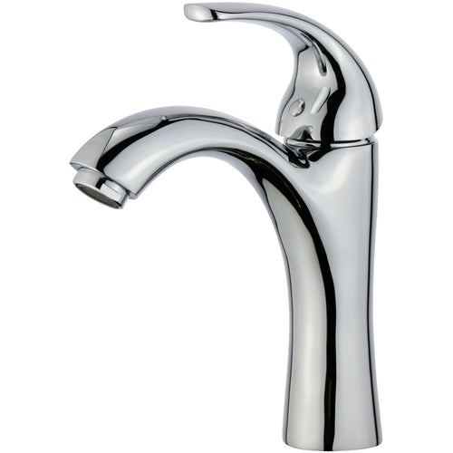 Seville Single Handle Bathroom Vanity Faucet in Polished Chrome