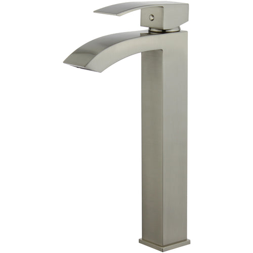 Palma Single Handle Bathroom Vanity Faucet in Brushed Nickel