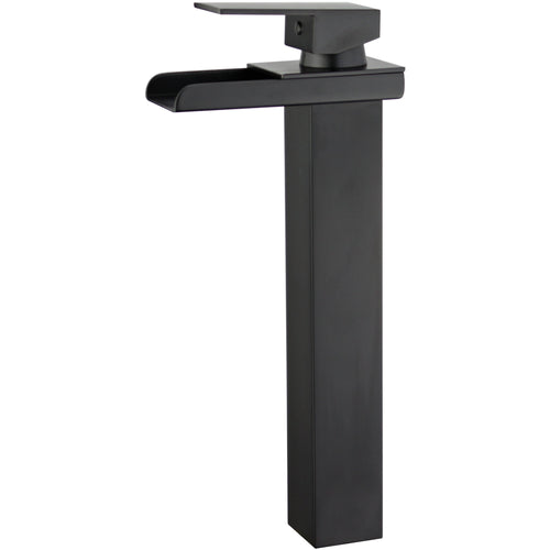 Oviedo Single Handle Bathroom Vanity Faucet in Black