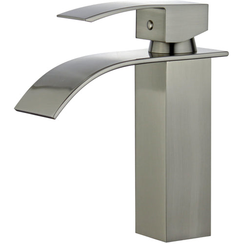 Santiago Single Handle Bathroom Vanity Faucet in Brushed Nickel