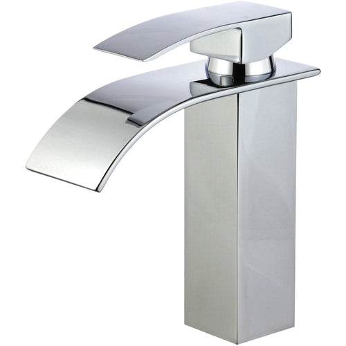 Santiago Single Handle Bathroom Vanity Faucet in Polished Chrome