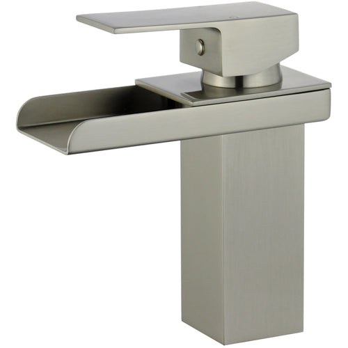 Pampalona Single Handle Bathroom Vanity Faucet in Brushed Nickel