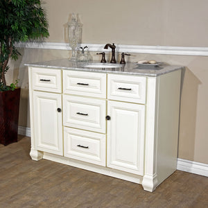 50 in Single sink vanity-antique white
