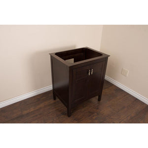 29 in Single sink vanity-wood-sable walnut cabinet only