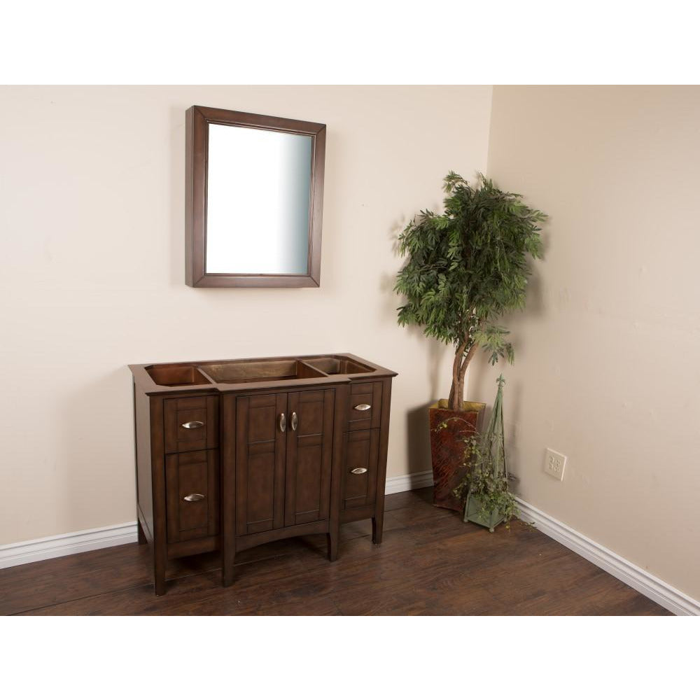44 in Single sink vanity-wood-sable walnut cabinet only