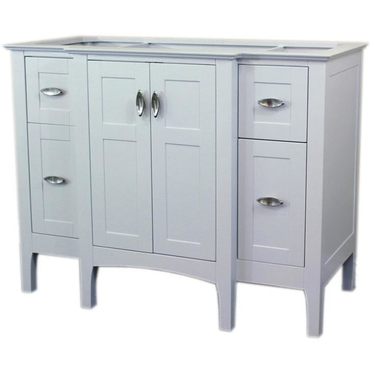 44 in Single sink vanity-wood-white cabinet only