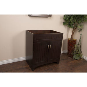 32 in Single sink vanity-wood-sable walnut cabinet only