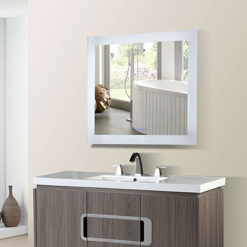 30 in. Rectangular LED Bordered Illuminated Mirror with Bluetooth Speakers