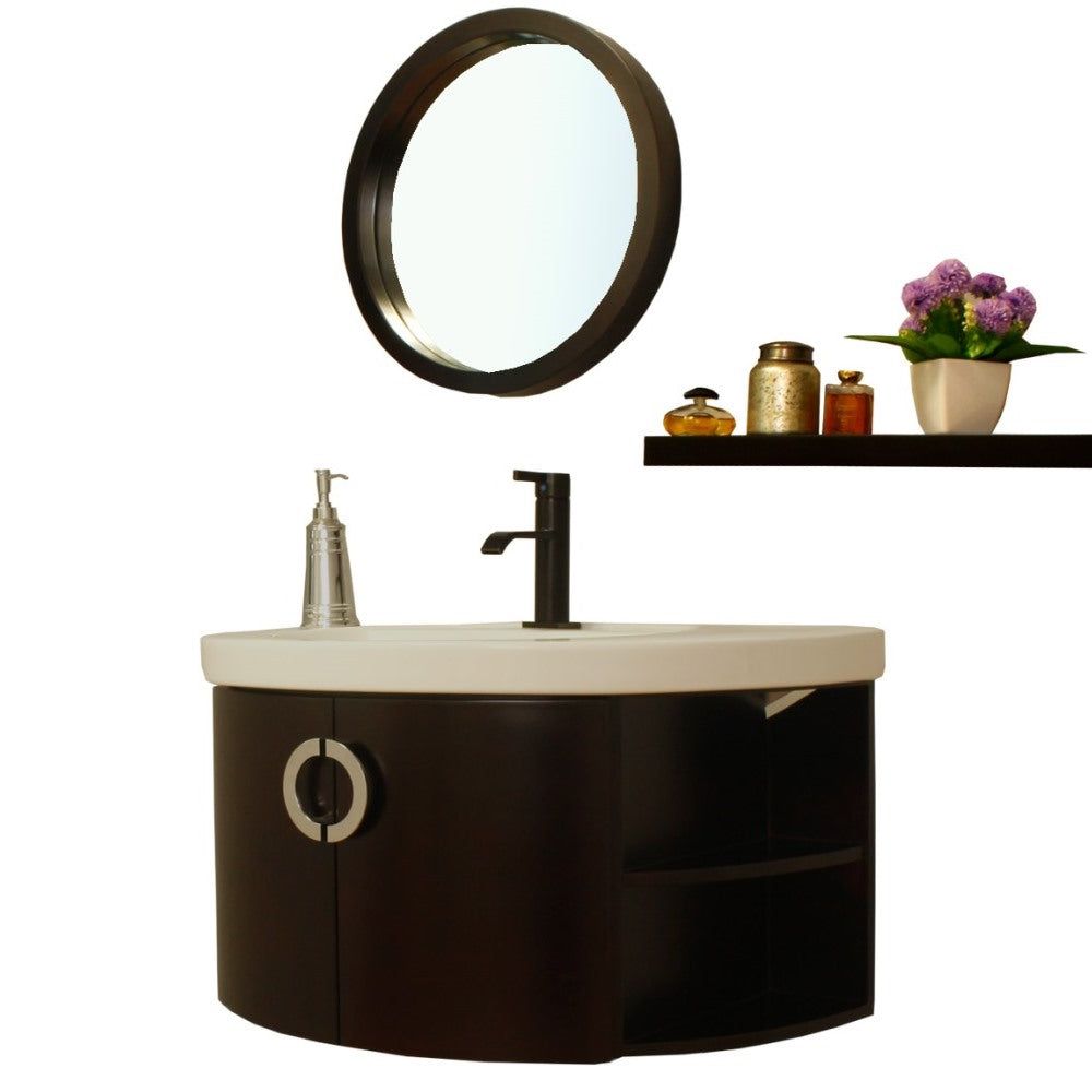 34 in Single vanity-wood-espresso