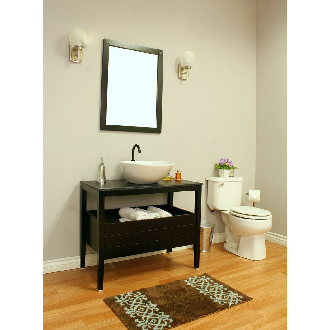 35.5 in Single sink vanity-wood-black