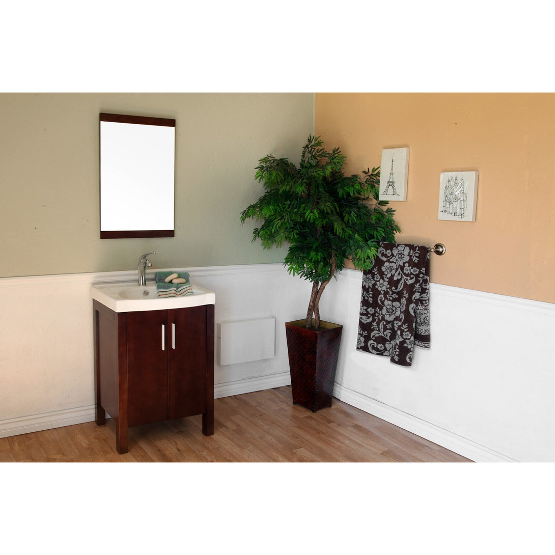 23.8 in Single sink vanity-wood-dark walnut