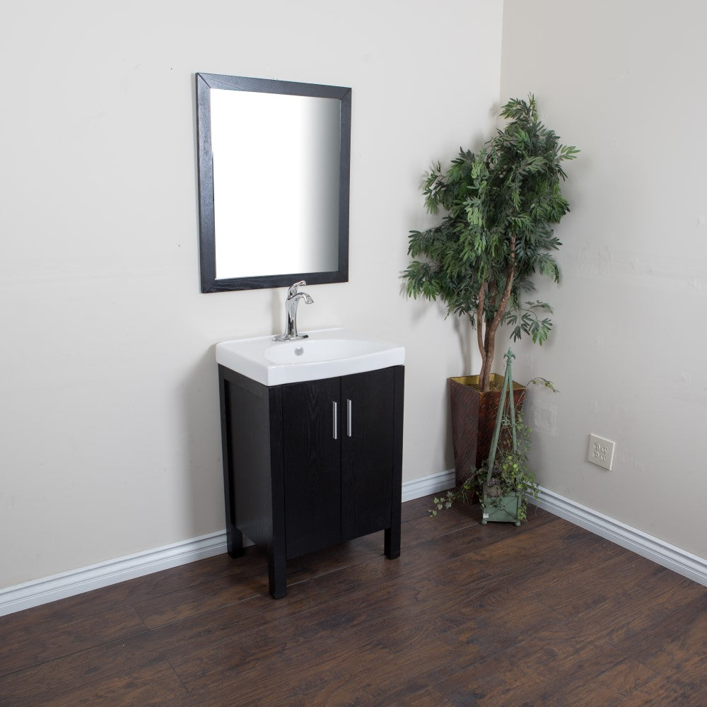 23.8 in Single sink vanity-Black