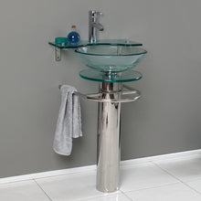 "Load image into Gallery viewer, Fresca Ovale 24"" Modern Glass Bathroom Pedestal"