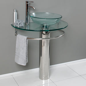 "Fresca Attrazione 30"" Modern Glass Bathroom Pedestal - SKU # CMB1060-V"