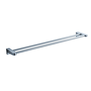 "Fresca Generoso 19"" Double Towel Bar - Chrome"