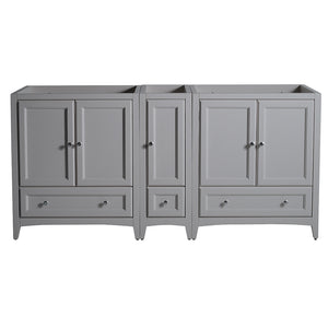 "Fresca Oxford 71"" Gray Traditional Double Sink Bathroom Cabinets"