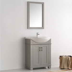 "Fresca Hartford 30"" Gray Traditional Bathroom Vanity"