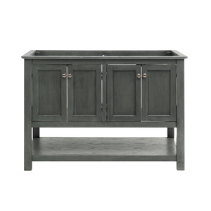 "Fresca Manchester Regal 48"" Gray Wood Veneer Traditional Double Sink Bathroom Cabinet"