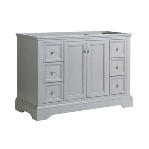 "Fresca Windsor 48"" Gray Textured Traditional Bathroom Cabinet"