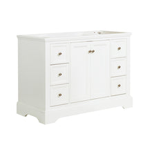 "Load image into Gallery viewer, Fresca Windsor 48"" Matte White Traditional Bathroom Cabinet"