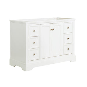 "Fresca Windsor 48"" Matte White Traditional Bathroom Cabinet"