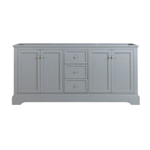 "Load image into Gallery viewer, Fresca Windsor 72"" Gray Textured Traditional Double Sink Bathroom Cabinet"