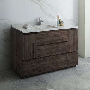 "Fresca Formosa 54"" Floor Standing Modern Bathroom Cabinet w/ Top & Sink"
