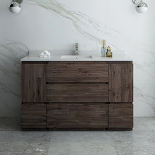 "Load image into Gallery viewer, Fresca Formosa 54"" Floor Standing Modern Bathroom Cabinet w/ Top & Sink"