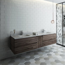 "Load image into Gallery viewer, Fresca Formosa 84"" Wall Hung Double Sink Modern Bathroom Cabinet w/ Top & Sinks"