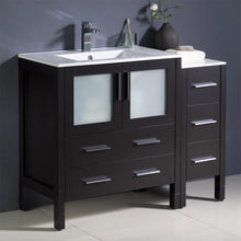 "Load image into Gallery viewer, Fresca Torino 42"" Espresso Modern Bathroom Cabinets w/ Integrated Sink"