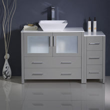 "Load image into Gallery viewer, Fresca Torino 48"" Gray Modern Bathroom Cabinets w/ Top & Vessel Sink"