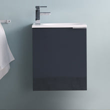 "Load image into Gallery viewer, Fresca Valencia 20"" Dark Slate Gray Wall Hung Modern Bathroom Vanity"