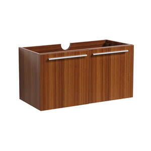 "Fresca Vista 30"" Teak Wall Hung Modern Bathroom Cabinet"