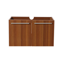 "Load image into Gallery viewer, Fresca Vista 30"" Teak Wall Hung Modern Bathroom Cabinet"