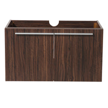 "Load image into Gallery viewer, Fresca Vista 36"" Walnut Modern Bathroom Cabinet"