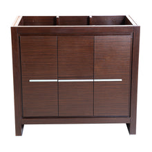 "Load image into Gallery viewer, Fresca Allier 36"" Wenge Brown Modern Bathroom Cabinet"