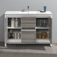 "Load image into Gallery viewer, Fresca Allier Rio 48"" Ash Gray Single Sink Modern Bathroom Cabinet w/ Sink"