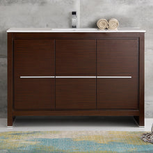"Load image into Gallery viewer, Fresca Allier 48"" Wenge Brown Modern Bathroom Cabinet w/ Sink"